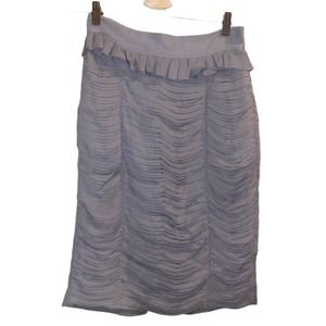 Burberry London Gray Pleated Pencil Skirt Size 6